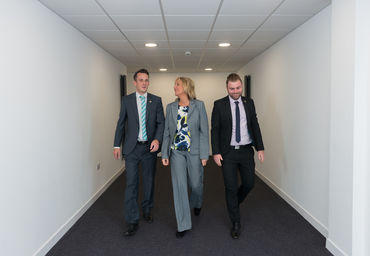 Dale, Sally and Jamie in one of our new offices