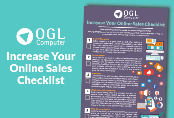 Increasing your online sales checklist